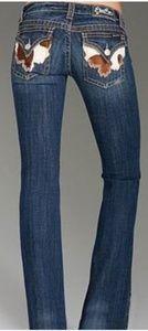 Miss me cowhide jeans